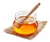 Jar of honey — Stock Photo