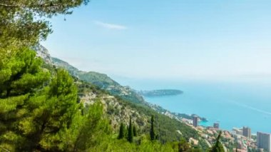 Principality of Monaco, Monte Carlo, panoramic time-lapse — Stock Video