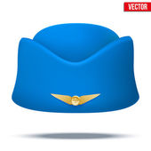 Classic Stewardess hat forage-cap of air hostess uniform. Vector. — Stock Vector