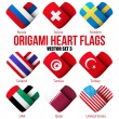 Set Flag icons in the form of heart. I love it. Vector — Stock Vector #52440935