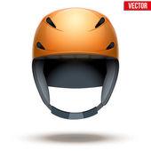 Front view of Classic orange Ski helmet. Vector isolated on white background — Vetorial Stock