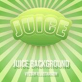 Sfondo dell'etichetta per il succo di mela. design premium brillante. illustrazione vettoriale. — Vettoriale Stock