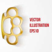 Background of Metal Brassknuckles. Vector illustration. — Stock Vector
