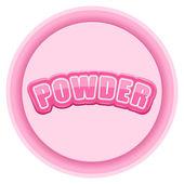 Label for powder. Bright premium design. Vector Illustration. — Stock Vector