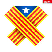 Ribbon of independence Catalonia. — Stock Vector