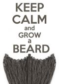 Keep Calm and grow a Beard — Stock Vector