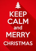 Keep Calm and Merry Christmas. vector background. Card or invitation. — 图库矢量图片