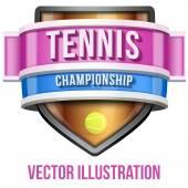 Label for tennis sport competition. Bright premium design. Vector Illustration. — Stock Vector