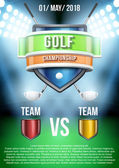 Background for posters golf field game announcement. Vector — Stock Vector
