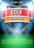 Background for posters golf field game announcement. Vector — Vettoriale Stock