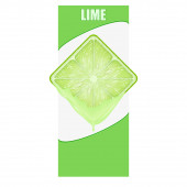Vertical Banner of lime square slice. Space for text. — Stock Photo