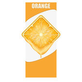 Vertical Banner of orange square slice. Space for text. — Stock Photo