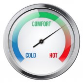Indicator meter of comfort. — Stock Photo