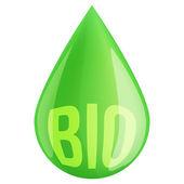 Green oil industry drop symbol — Stock Photo