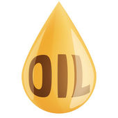 Drop of oil isolated on white background — Stock Photo