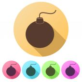 Set Flat icons of Bomb. Vector Illustration. — Stock Vector