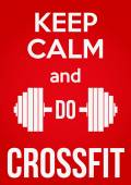 Keep Calm and do crossfit — Stok Vektör