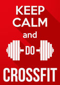 Flat design Keep Calm and do crossfit — Stock Vector