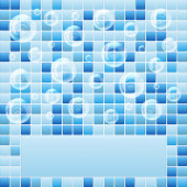 Blue mosaic small tile texture background of spa. — Stock Photo