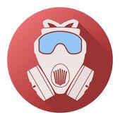 Flat icon of gas mask respirator. Vector Illustration. — 图库矢量图片