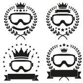 Set of Vintage Motor Club Badge and Label — Stock vektor