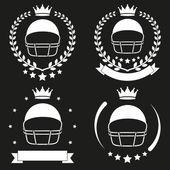 Set of Vintage Football Club Badge and Label — Stock vektor