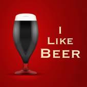 Vector Illustration I like beer — Stock Vector
