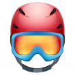 Front view of Classic Ski helmet and snowboard goggles. — Stock Photo #68773813