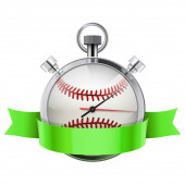 Stopwatch with baseball ball inside. Sport and training — Stock Photo