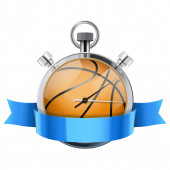 Stopwatch with basketball ball inside. Sport and training — Stock Photo