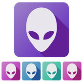 Set Flat icons of Alien head creature — Stock Photo
