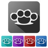 Set Flat icons of brass knuckles. — Stock Photo