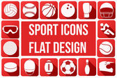 Set of sport icons in flat design — Stock Vector
