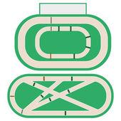 Hippodrome stadium for horse racing. — Stock Vector