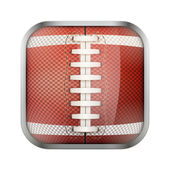 Square icon for american football app or games — Stockvector