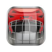 Vierkante pictogram voor ijshockey app of spellen — Stockvector