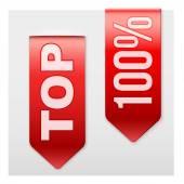 Conjunto de cintas populares Top. Estilo moderno realista. — Vector de stock