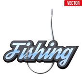Fishingl label and badge — Stock Vector