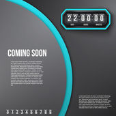 Background Coming Soon and countdown timer. Vector. — Stock Vector