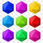 Icosahedron with transparency. — Stock Vector
