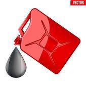 Symbol of petroleum black drop and jerrycan — Stock Vector