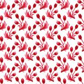 Watercolor seamless floral pattern — Stock Vector