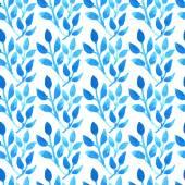 Aquarelle motif floral sans soudure — Vecteur