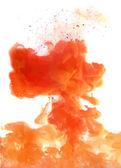 Orange cloud of ink — Stok Vektör