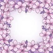 Cherry blossom frame — Stock Vector