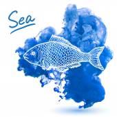 Sea fish — Stock Vector
