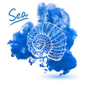 Sea shell — Stock Vector