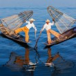 Burmese fishermen at Inle lake, Myanmar — Stock Photo #53050645