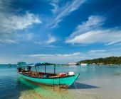 Boats in Sihanoukville — Stock Photo