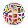 Globe sphere with flags of the world — Stock Photo #53888265